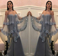 Trendy 2019 Said Mhamad Mermaid abiti da sera con paillettes avvolgere party in raso abiti da ballo lunghi abiti su misura Robe De Soiree Pageant