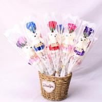 Urso bonito Rose Flor Soap Party Surpresa Dia Dos Namorados Presentes Românticos Do Aniversário Do Partido de Aniversário Favor Bonecas LX5025