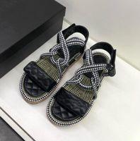 donne di lusso a fondo spesso focaccina fondo sandali e pantofole marchio di moda punta aperta comoda antiscivolo cuneo sandali per il tempo libero femminile