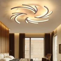 Минималистский творческий современные светодиодные потолочные светильники для гостиной Спальня белый цвет дома светодиодные потолочные светильники AC110V AC220V
