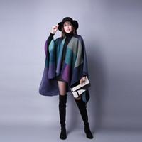 Soft Woman Grid bufanda moda cálido invierno chales al aire libre viajes damas lana capa navidad fiesta cape lt-tta1254