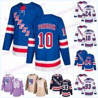 2019 Progetto Rangers Jersey 24 Kaapo Kakko 10 Artemi Panarin # 99 Wayne Gretzky 30 Henrik Lundqvist Leetch Messier Hockey maglie