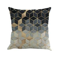 Gajjar Pillow Case 45*45 Geometry Painting Linen Throw Pillow Case
