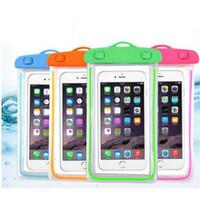 Sacs de plage étanches transparents lumineux Cas pour téléphone mobile intelligent