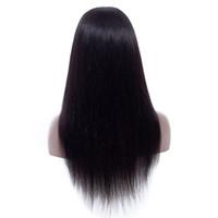 Perruques de cheveux humains en dentelle avant cueillies avec des cheveux de bébé Brésilien de la vierge péruvienne de lace de dentelle de lacets 4x4