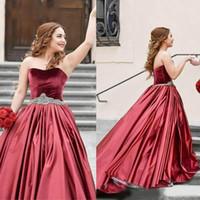Novia de una línea larga del rojo más el tamaño de vestidos de noche ocasión especial formal 2020 Crystal flooe longitud vestido de fiesta vestido elegante