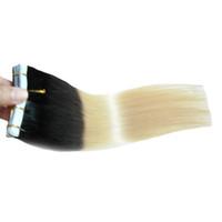 حار أسود وشقراء أومبير الشريط في الشعر الإنسان 6a vingin البرازيلي مستقيم الشعر بو الجلد لحمة الشريط في الشعر البشري