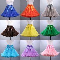 Modern Colorfulle Tutu Petticoat Ruffled Kolana Długość Krótka kobieta Petticoat Underskirt Tulle Bridal Petticoat Prawdziwa próbka