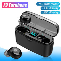F9 TWS Wireless Bluetooth Earphones V5.0 Wireless Bluetooth Headphone LED Display with 2000mAh Power Bank Headset with Retail Box