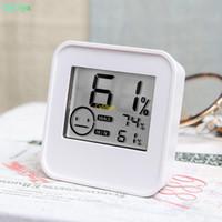 ميزان الحرارة الرقمي رطوبة العرض LCD درجة الحرارة في الأماكن المغلقة الاستشعار الرطوبة متر الرطوبة متر أخضر أبيض DC205 في مربع للبيع بالتجزئة