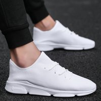 Men' s shoes lace up Casual Sneakers mesh breathable com...