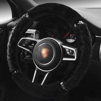 1 Diy Mewant Black Artificial Leather Car Steering Wheel