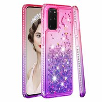 Diamond Glitter Estuches para teléfonos para Samsung Galaxy S20 Plus Ultra degradado Quicksand Cubier Sam. A51 A71 A81 A91 A21 A01 A30 A50
