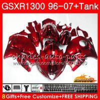 Комплект для Suzuki Hayabusa GSX-R1300 1996 1997 1998 2007 24HC.21 GSXR 1300 GSXR1300 96 97 98 99 Candy Red Hot 00 01 02 03 04 05 06 07 Обворота