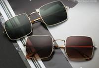 Yeni Geliş Degrade Shades Büyük Boy Güneş Kare Marka Tasarımcı Vintage Kadınlar Moda Güneş Gözlükleri óculos De Sol 1971 UV400