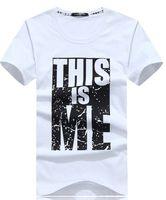 Diseñador para hombre camisetas de verano 2019 moda para hombre Carta Imprimir Hombres T Shirt Algodón de alta calidad Camiseta Casual Ropa de hombre