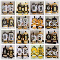 Урожай CCM 75th Boston Bruins 8 Cam Neely Jersey Shated 17 Milan Lucic 18 Nathan Horton 21 Эндрю Ферре Хоккей Джерси для черного