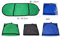 Microfiber Pet Bath Towel with Embroidered Paw, Ultra- Absorb...