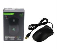 Orijinal değil Razer Deathadder Chroma USB Kablolu Optik Bilgisayar Oyun Fare 10000 dpi Optik Sensör Fare Razer Deathadder Oyun Fareler