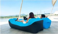 11 colors outdoor air lazy sofa sleeping bag inflatable port...