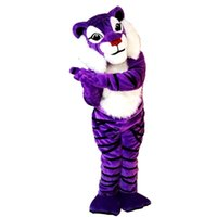 2019 New high quality Purple tiger Mascot costumes for adult...