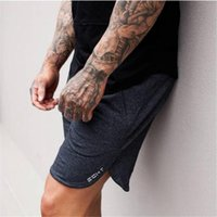 Mode Hommes Sporting Beaching Shorts Pantalons Coton Bodybuilding Pantalons de survêtement Fitness Court Jogger Casual Gymnases Hommes Shorts AE04