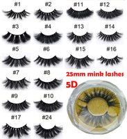24 styles 25mm lashes 3D mink eyelash 5D Dramatic Long Thick...
