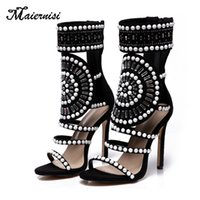 MAIERNISI 2019 New Pearl Decoration Women Pumps High Heel Wo...