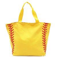 النساء البيسبول البيسبول الطباعة حقيبة السفر قدرة عالية قماش حقيبة محمولة المنظم حقيبة التخزين الرجال في الرياضة حمل 53 * 37 * 19 سنتيمتر