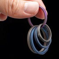 1 stück Runde Titanlegierung Schlüsselanhänger Taschenwerkzeuge Hohe Qualität Keychain Für Männer Frauen Taille Hängen Anhänger Outdoor Gadget Werkzeug
