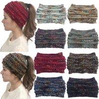 Donne Cavo lavorato a maglia fascia Inverno Headwrap Hairband Crochet Turbante Wrap Banda capo colorato dello scaldino dell'orecchio Trendy Lettera Accessori per capelli 2020