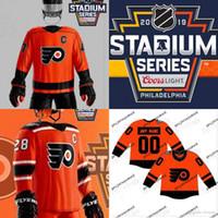Chandails de la Série de stade 2019 des Flyers de Philadelphie 28 Claude Giroux 9 Ivan Provorov 14 Sean Couturier 37 Maillot de hockey Brian Elliott