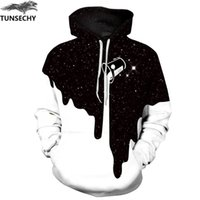 TUNSECHY Hot Fashion Uomo / Donna 3D Felpe Stampa Milk Space Galaxy Hooded Hoodies Cime Unisex allentate All'ingrosso e al dettaglio