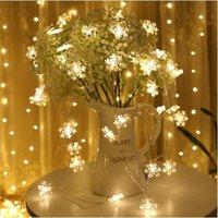 1.5M 3M 4.5M 6M 7.5M LED floco de neve Fada de Cordas da luz de Natal Ornamento da árvore Decor 2019 Detalhes no Feliz Natal para Casa Navidad Noel