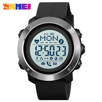 Calorie Uomini Digital Orologi sportivi termometro Previsioni Meteo LED Watch lusso Contapassi Bussola Chilometraggio Metronome Clock