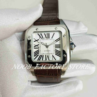 Lujosa excelente calidad deportiva 100 XL Black Luxury Menic's Menic Mecanical Watch Mens 40mm Banda de cuero marrón Relojes de pulsera