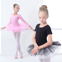 Girls Tutu Dress Kids Gymnastics Tulle Skirted Leotards Pink...
