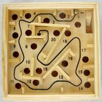 미니 나무 미로 보드 게임 공 미로 퍼즐 손수 장난감 11.5 * 2.5cm의 어린이 교육 완구 안티 스트레스 장난감