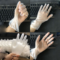 New disposable transparent PVC gloves household catering cle...