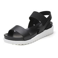 Shoes Woman Women' s Summer Sandals Shoes Peep- toe Low S...
