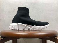 Mit Box große Größe Designer Schuhe Speed Trainer Gelegenheits von Triple-Socken Flache Mode der Frauen der Männer Sport-Turnschuhe Art und Weise Größe 36-47