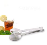 Reutilizável Aço Inoxidável Saco De Chá Tongs Teabag Espremedor Strainer Holder Grip Colher De Metal Mini Clipe De Açúcar Folha de Chá Filtro SN2081