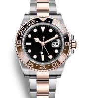 Yeni üst Seramik Bezel Otomatik 2813 Hareket Erkek Mekanik Paslanmaz Çelik İzle Usta Erkekler Moda Kol saatı