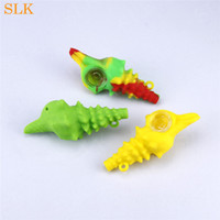 Conch mold Silicone Pipe Mini Glass Oil Burner Pipes Smoking...