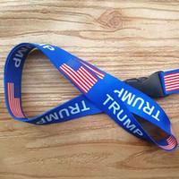 TRUMP Petto Carta tracolla staccabile Bandiera delle catene Stati Uniti Key String partito distintivo Ciondolo regalo cordicella del telefono mobile del DHL