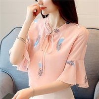 2019 New Arrival Women' s Blouses&Shirt Elegance Slim To...