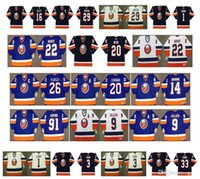 Vintage New York Islanders Formalar 20 Webb 16 Ziggy Palffy 29 KENNY JONSSON 1 ROBERTO Luongo 3 Zdeno chara'yı 33 Eric Cairns CCM Retro Hokeyi