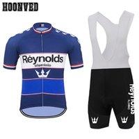 سباق فرنسا للدراجات برو سباق الرجل ريترو blueReynolds ركوب الدراجات جيرسي قصيرة الأكمام المتفطرات السلية دراجة سترة الملابس ciclismo HOMBRE