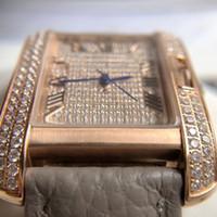الماس الكامل الأزياء والجلود ووتش النساء السيدات كريستال الفولاذ المقاوم للصدأ التناظرية الكوارتز ساعات المعصم relogio feminino هدية للمرأة