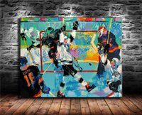 Hockey The Winner, Canvas Painting Living Room Home Decor Modern Mural Art Pittura a olio